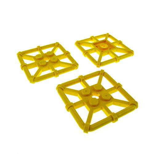LEGO Bau- & Konstruktionsspielzeug Lego 4 Stück 30094 gelb Platte mit Griff Ring