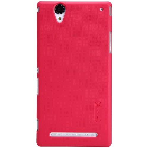 Rojo Carcasa + Protector de Pantalla + Polvo Limpieza película + Stylus Pen para Sony XM50Xperia T2Ultra Nillkin NK20132