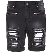774fc8fab526 Fresh Made Damen Jeans Shorts   Kurze Hosen im Bermuda Stil aus Denim  bequem durch Stretch