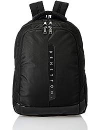 United Colors of Benetton 24 Ltrs Black Laptop Backpack (0IP6BKPD0005I-100) 5fd2e7e3fd