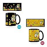 Nintendo La Ruée Vers Les Pièces d'Or Tasse Hitze Farbwechsel, Keramik, Mehrfarbig, 11oz/315ml