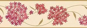 Fine Decor Frise en papier Motif Alium Rouge/doré 175 mm