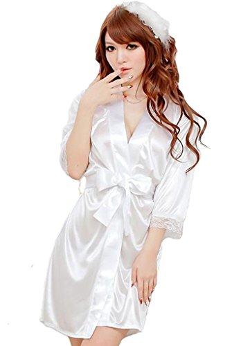 VISKEY Women Lady's Sexy Satin Lingerie Sleepwear Robes Night Gown Nightwear