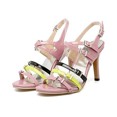 LvYuan Sandali-Ufficio e lavoro Formale Casual-Innovativo Club Shoes-A stiletto-Vernice-Rosa Beige beige
