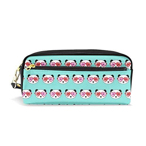 1 Panda Valentines Day Panda Pattern Fabric - Panda Fabric, San Valentino Panda - Candy Mint_1975 Cosmetic Bags Astuccio portatile Portable Travel Makeup Organizer Multifunzione Borse per le do