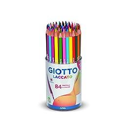 Giotto 520100 – Laccato Barattolo 84 Pastelli Colorati