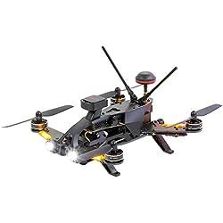 Walkera Runner 250Pro 15004600Quadricoptère de Course -Drone avec Pilotage en Immersion (FPV) avec caméra HD, GPS, Affichage à l'écran (OSD), Batterie, Chargeur et télécommande Devo 7