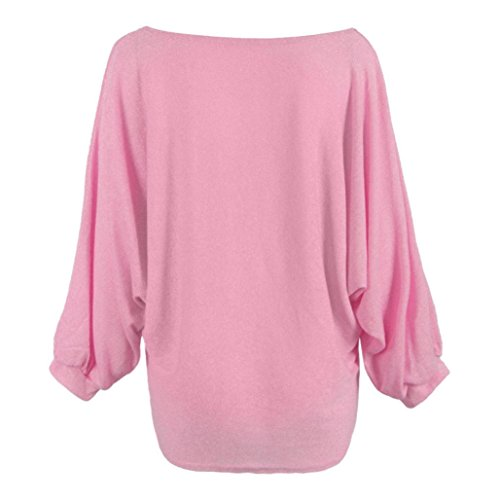 Sonnena Women Oversized Batwing Knitted Pullover Loose Sweater