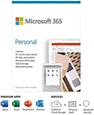 Microsoft 365 Personal   Office 365 apps   1 user   1 year subscription   PC/Mac, Tablet and phone   multiling