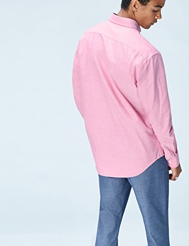FIND Camicia in Cotone Regular Fit Uomo Rosa (Rosa)