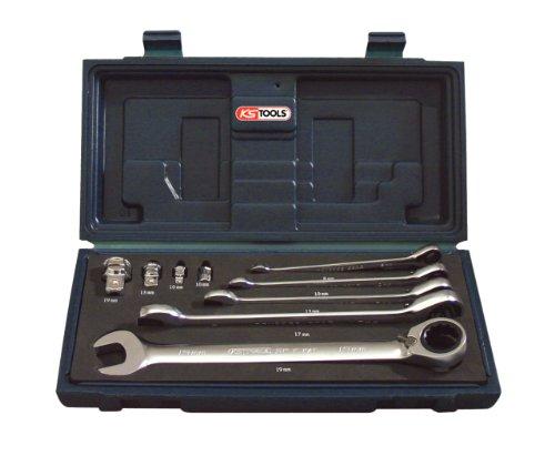KS TOOLS 503.4650 Coffret de clés mixtes réversibles avec adaptateurs, 9pcs