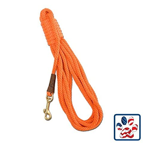 Mendota Products Obedience 20 Check Cord Dog Lead, Black, 3/8-Inch x 20-Feet by Mendota Products