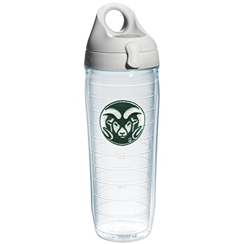Tervis 1073525 Colorado State University Emblem Individual Water Bottle with Gray lid, 24 oz, Clear