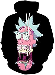 Anime Rick and Morty Men's Long Sleeve Hoodie Trend Casual Loose Comfort To