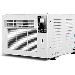 ZMXZMQ Climatiseur Mini-Compact avec Commandes Mécaniques, Climatiseur/Thermopompe Coulissant Compact avec Télécommande,1.95 * 0.9 * 0.95m