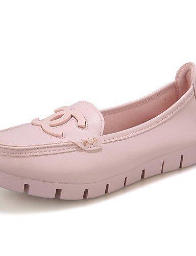ShangYi gyht Scarpe Donna-Mocassini-Tempo libero / Formale / Casual-Comoda-Piatto-Microfibra-Rosa / Bianco Pink