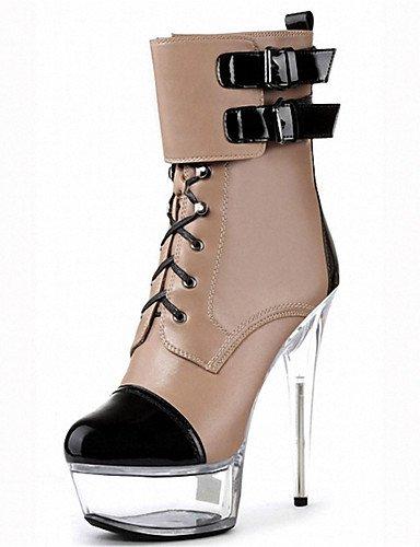 Donna stivali Primavera / Autunno / Inverno similpelle Party & Sera / Stiletto Heel fibbia / 15cm elegante Lace Up Boots,Black,US5 / EU35 / UK3 / CN34