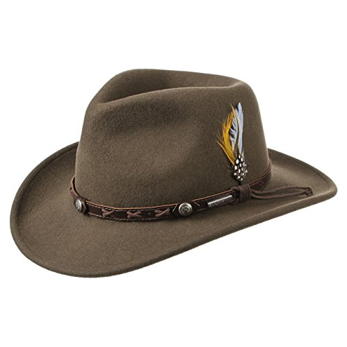 Stetson Chapeau Vail Outdoor VitaFelt hiver chapeaux dŽexterieur (XL (60-61 cm) - marron)