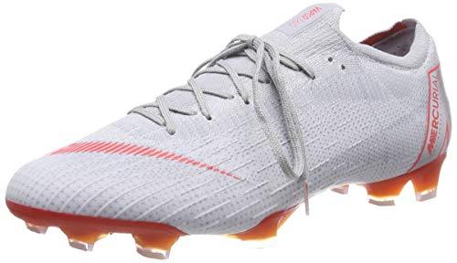 Nike Unisex-Erwachsene Vapor 12 Elite Fg Sneakers, Mehrfarbig (Wolf Grey/Lt Crimson/Pure Platinum 060), 40.5 EU -