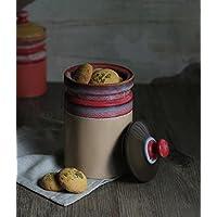 Store Indya, Gettato volantino studio di ceramica smaltata Crema vaso di ceramica