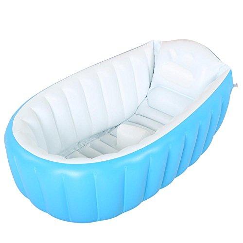 Pratique portable Thicken Hardy enfant baignoire gonflable adulte Sauna Baignoire La baignoire pliable QLM-Baignoire gonflable et bain gonflable (Couleur: bleu) , blue , 98cm