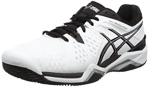 Asics Gel-resolution 6 Clay Herren Tennisschuhe White (White/Black/Silver 0190)