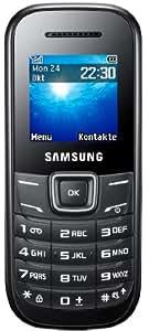 Samsung E1200i Handy (3,9 cm (1,5 Zoll) TFT-Display, SOS-Nachrichten und Organizer-Funktion) - Schwarz