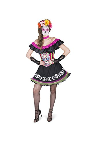 Generique - Kostüm Mariachi Dia de los Muertos für Damen L