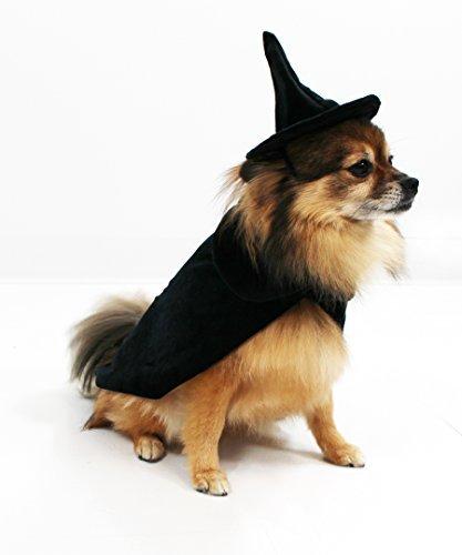 Hexe Kostüm Hat - Midlee Halloween Hexe Umhang und Hat Hund Kostüm, Small