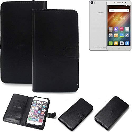 K-S-Trade® 360° Wallet Case Handyhülle Für Hisense L695 Schutz Hülle Smartphone Flip Cover Flipstyle Tasche Schutzhülle Flipcover Slim Bumper Schwarz, 1x