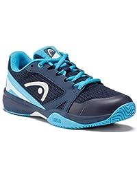 Head Sprint 2.5 Junior Zapatos de Tenis, Azul Oscuro/Azul, 34 EU