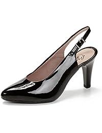 Zapatos Pitillos pit1773 - Salón de charol Negro