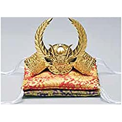 Tokyo Art Gallery ISHIHARA Japanese Samurai Golden Kabuto Helmet Statue - Ieyasu Tokugawa - w Double Cushion [Standard Ship by EMS with Tracking Number & Insurance]
