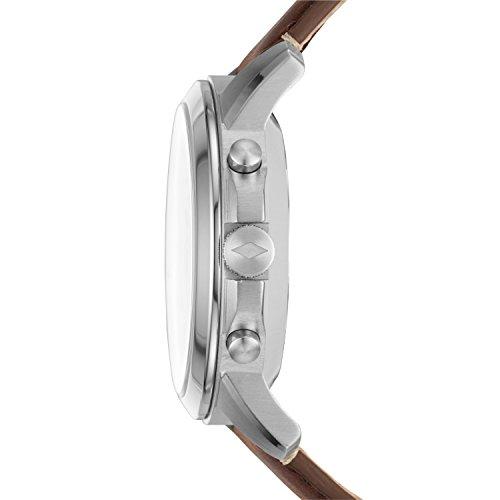 FOSSIL Hybrid Smartwatch Q Grant Dark Brown LeatherMens Quartz Wrist Watch With Activity Tracker Water Resistant