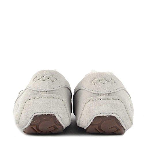 Ugg Chaussures Ansley Mocassin Pantoufle en Daim Violet Femme Gris