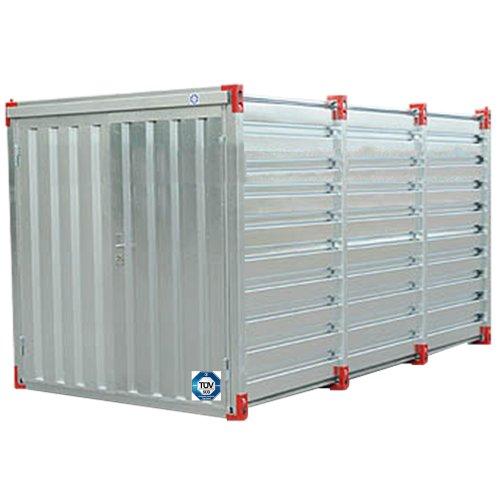Baucontainer Garage Container Lagercontainer Gerätecontainer Blechcontainer mit TÜV Größe (S) 3m x 2,2m x 2,2m