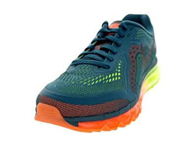 Nike Men's Air Max 2014 Night Factor,Black,Atomic Orange,Volt  Running Shoes -9 UK/India (44 EU)(10 US)