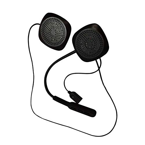 UMIWE Casque Moto Bluetooth, Casque sans Fil Bluetooth Casque avec Commande vocale, Microphone, Parler Mains Libres, Compatible avec la Plupart des Casques de Scooter Moto