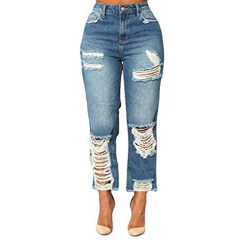K-youth Mujer Pantalones Vaqueros Rotos Cintura Alta Mujer Jeans Talle Alto Mujer Vaqueros Skinny...