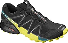 Idea Regalo - SALOMON SPEEDCROSS 4, Scarpe da Corsa Uomo, Nero/Giallo (Black/Everglade/Sulphur Spring), 47 1/3 EU