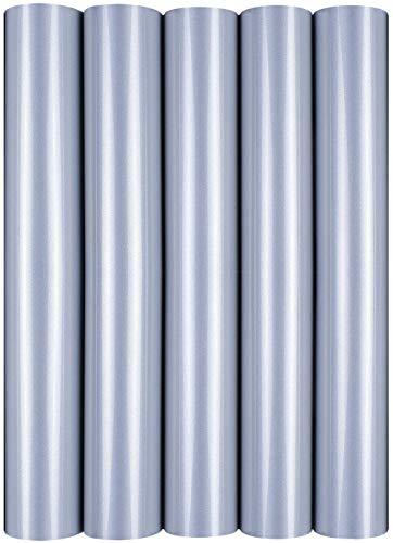 5 x A4 Transferfolie/Textilfolie zum Aufbügeln auf Textilien - perfekt zum Plottern, P.S. Film:5er Set Reflective Silver