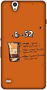 The Racoon Lean printed designer hard back mobile phone case cover for Sony Xperia C4. (Orange B52)