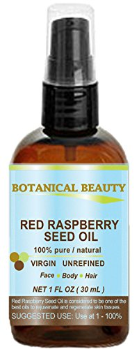 Red Raspberry Seed Oil 100% Pure / Natural / Virgin. Cold Pressed / Undiluted Carrier Oil. For Face, Hair And Body. 1 Fl.oz.- 30 ml. By Botanical Beauty