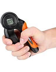Enkeeo Force Poignee Digital, Affichage LCD, Enregistrement Automatique des Données, Minuteur et Compteur de Calories pour Les Amateurs de Fitness