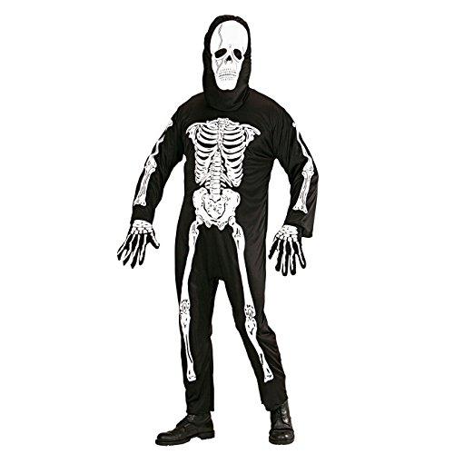 Skelett Kostüm Kopf (Widmann 3134E Erwachsenen Kostüm