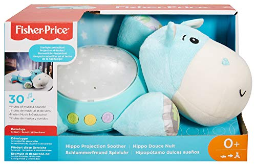 Fisher-Price CGN86 Schlummerlicht Spieluhr Nachtlicht mit Sternenlicht inkl. Melodien und White Noise, ab 0 Monaten, blau - 8
