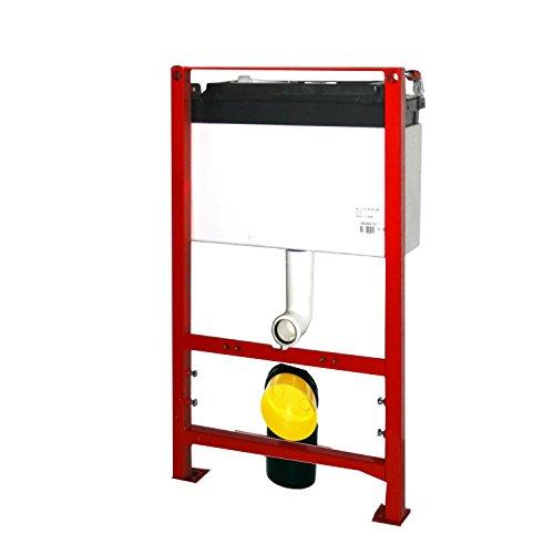 Wisa / Hudson WC-Element, Bedienung von oben. 87 cm inkl. Wandhalter und inkl. Betätigungsplatte.