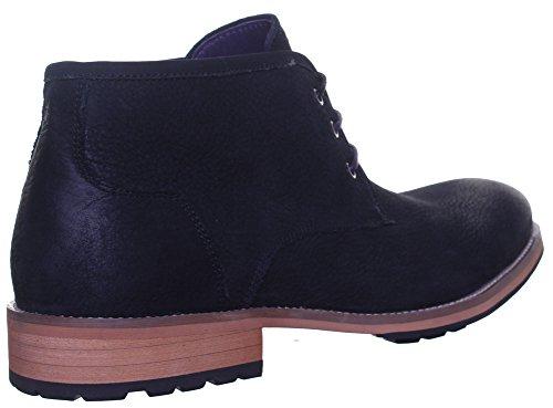 Reece Justin Bruno mat Chaussures en cuir pour homme Semelle en caoutchouc résistant Noir - Black EK12