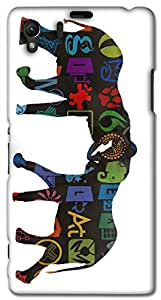 Timpax protective Armor Hard Bumper Back Case Cover. Multicolor printed on 3 Dimensional case with latest & finest graphic design art. Compatible with Sony L39H - Sony 39 Design No : TDZ-26898