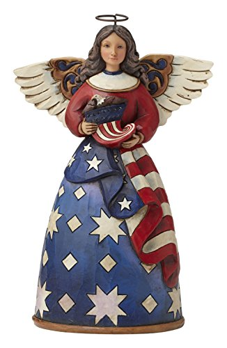 Shore Heartwood Creek Patriotische Engel in Flagge Kleid Figur ()